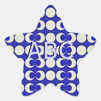 Triple Moon Pagan Monogram Star Sticker