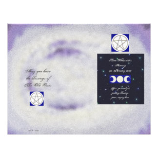 Triple Moon Pagan Pentacle Wiccaning/Saining Flyers