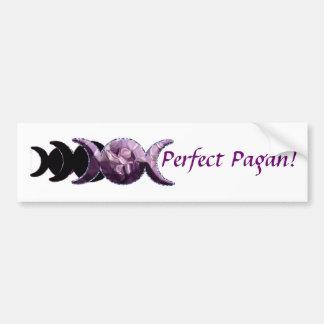 Triple Moon Perfect Pagan! Car Bumper Sticker
