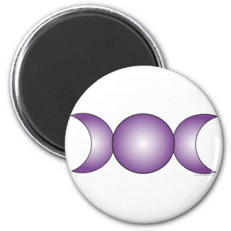 Triple Moon - purple gradient 2 Inch Round Magnet