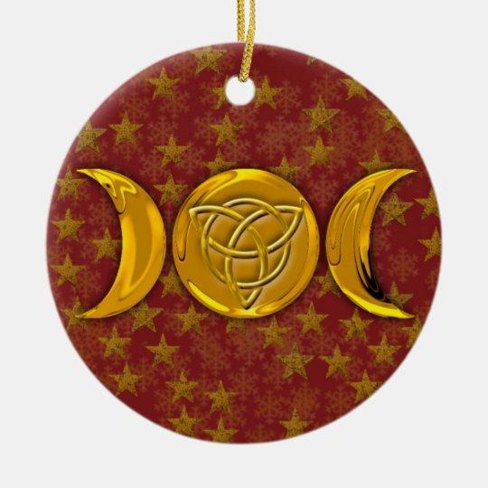 Triple Moon & Tri-Quatra #6 Ceramic Ornament