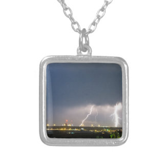 Triple_Night_Strike Silver Plated Necklace