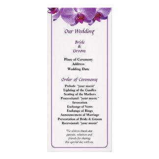 Triple Orchid Trio 2 Wedding Program