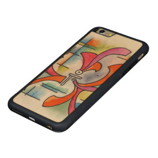 Triple Ornament - watercolor abstract painting Carved Maple iPhone 6 Plus Bumper Case