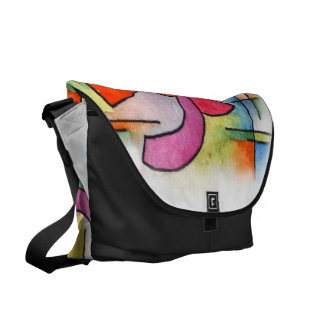 Triple Ornament - watercolor abstract painting Courier Bag