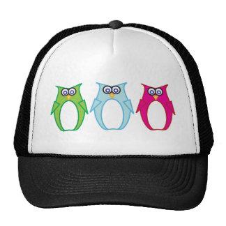 Triple Owl Trucker Hat