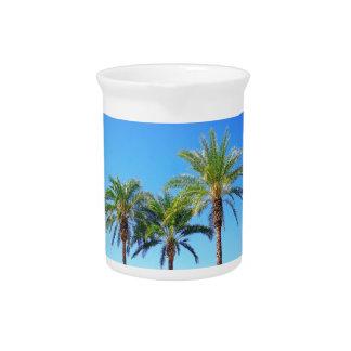 Triple Palm Beverage Pitchers