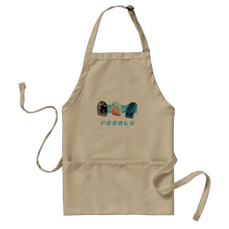 Triple PedalS Multi-Color Adult Apron