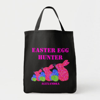 Triple Pink Easter Bunny Easter Egg Hunter Bag