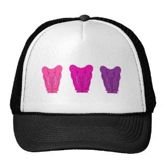 Triple Pink Elephants Trucker Hat