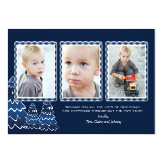 Triple Plaid - Photo Holiday Card