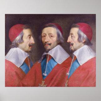 Triple Portrait of Cardinal de Richelieu Poster