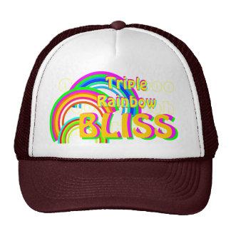 Triple Rainbow Bliss Trucker Hat