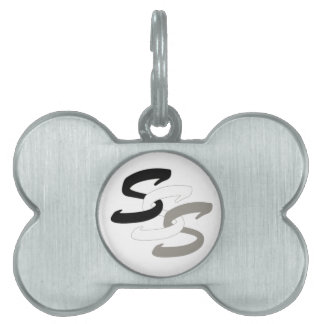 Triple S Shepherds logo bone pet tag