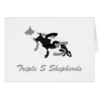 Triple S Shepherds logo greeting card