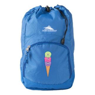 Triple Scoop Ice Cream Cone Cartoon Backpack