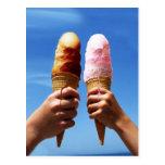 Triple Scoop Ice Cream Cones Post Card