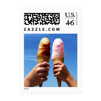 Triple Scoop Ice Cream Cones Postage