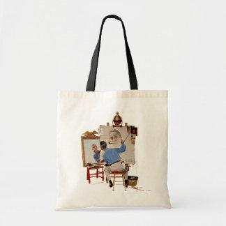 Triple Self-Portrait Budget Tote Bag