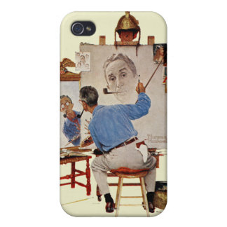 Triple Self-Portrait Covers For iPhone 4