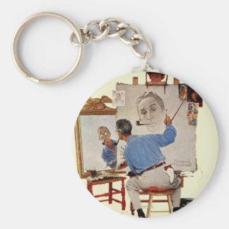 Triple Self-Portrait Keychains