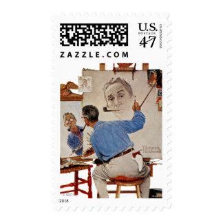 Triple Self-Portrait Postage