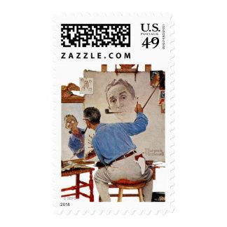 Triple Self-Portrait Stamp