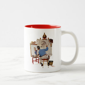 Triple Self-Portrait Two-Tone Coffee Mug