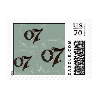 Triple Seven Crown Postage Stamp