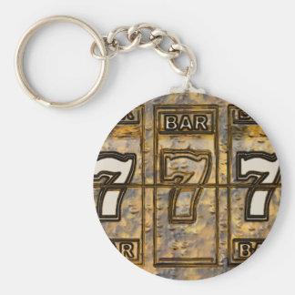 Triple Sevens Slot Machine Reels Keychain