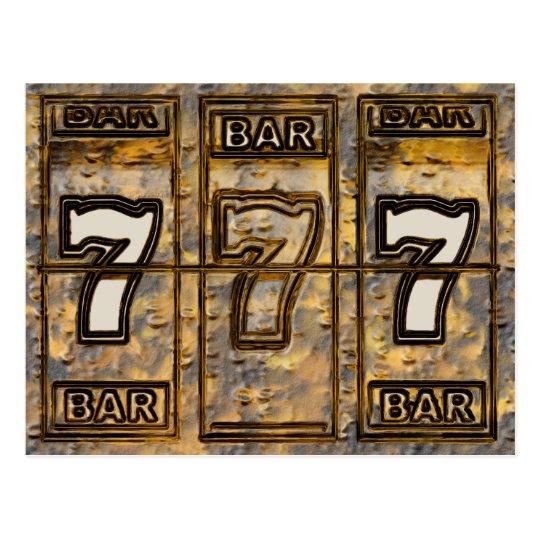 Triple Sevens Slot Machine Reels Postcard