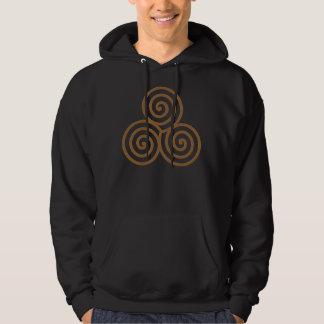 Triple Spiral Black Hoodie