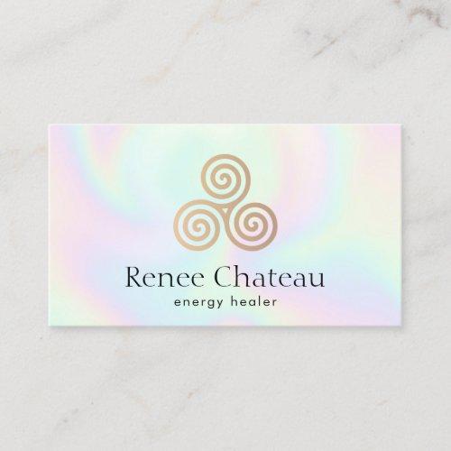 Triple Spiral, Celtic Triskele Business Card