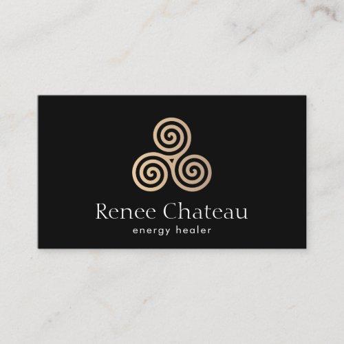 Triple Spiral,Celtic Triskele Symbol Business Card