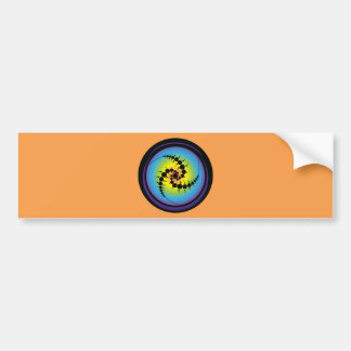 Triple Spiral Crop Circle Bumper Sticker