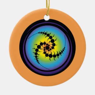 Triple Spiral Crop Circle Ceramic Ornament
