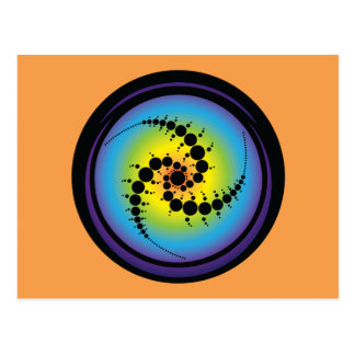 Triple Spiral Crop Circle Postcard