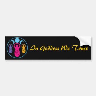 Triple Spiral Goddess Bumper Sticker