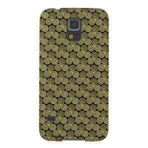 Triple spiral Gold Black Background Case For Galaxy S5