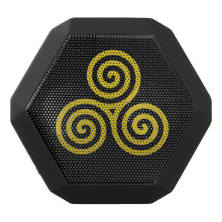 Triple spiral  Gold Black Boombot Rex Bluetooth Speaker