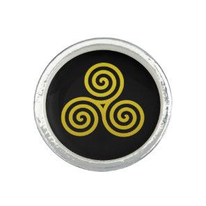 Triple Spiral Gold Ring