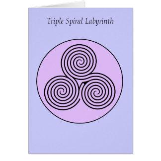 Triple Spiral Labyrinth Card