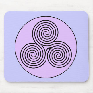 Triple Spiral Labyrinth Mouse Pad
