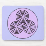 Triple Spiral Labyrinth Mousepads