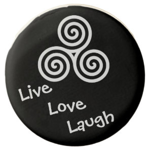 Triple spiral Live Love Laugh Chocolate Dipped Oreo