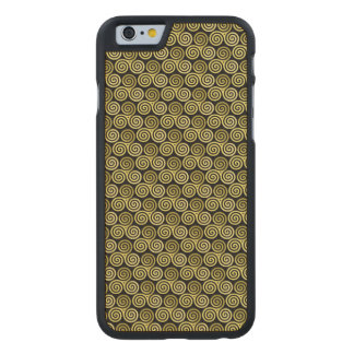 Triple spiral Live Love Laugh Gold Carved® Maple iPhone 6 Slim Case