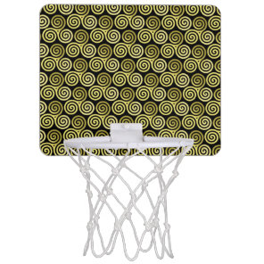 Triple spiral Live Love Laugh Gold Mini Basketball Hoop