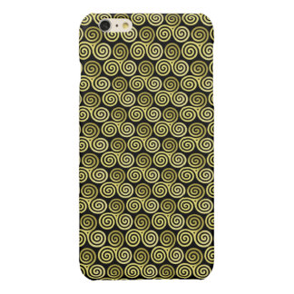 Triple spiral Live Love Laugh Gold pattern Glossy iPhone 6 Plus Case