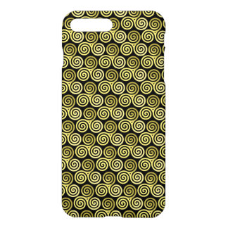Triple spiral Live Love Laugh Gold pattern iPhone 7 Plus Case