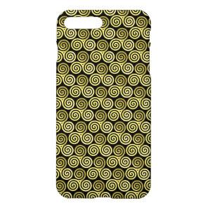 Triple spiral Live Love Laugh Gold pattern iPhone 8 Plus/7 Plus Case